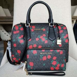 NWT Michael Kors Hayes Bag and Wallet Bundle black